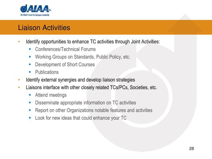 Liaison Activities
