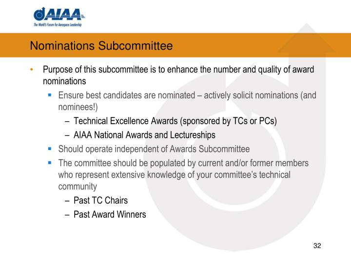 Nominations Subcommittee