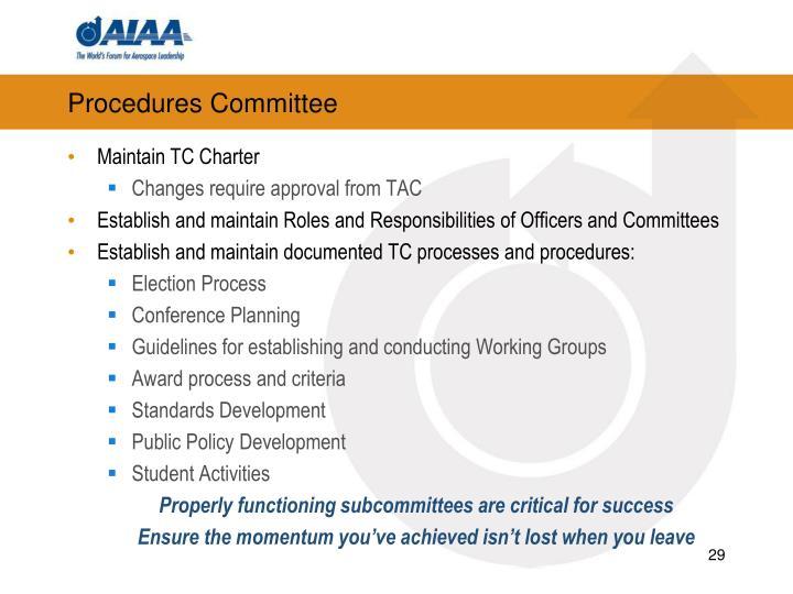 Procedures Committee