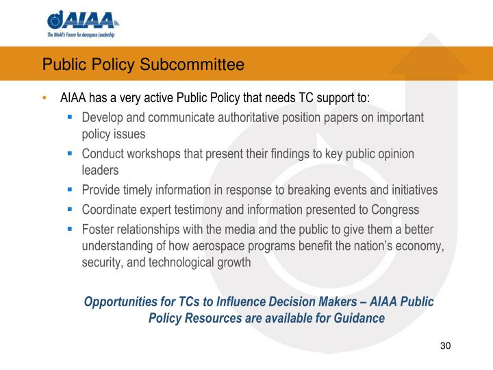 Public Policy Subcommittee