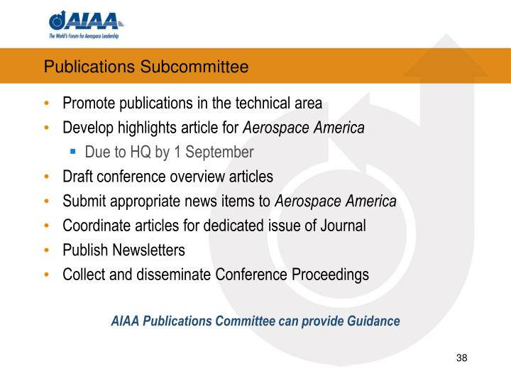 Publications Subcommittee