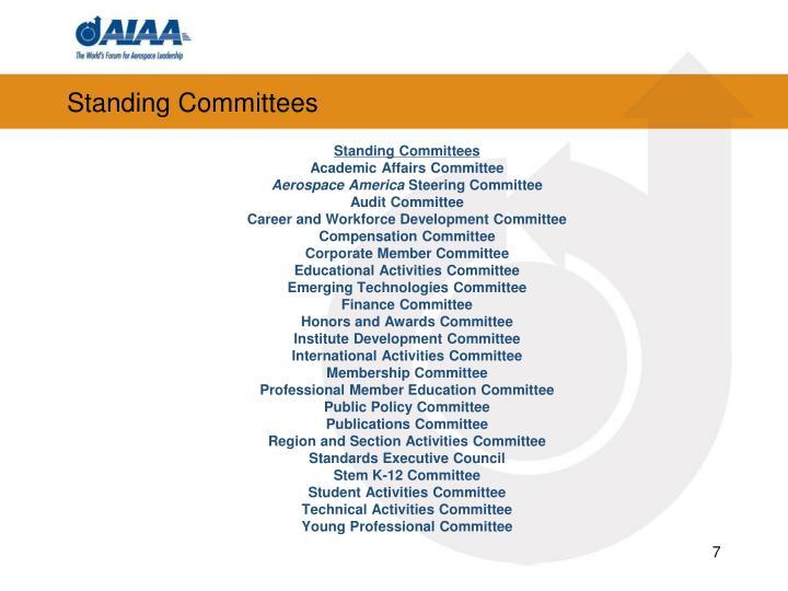 Standing Committees