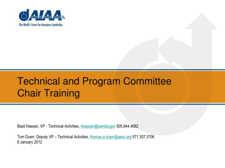 Technical and Program Committee