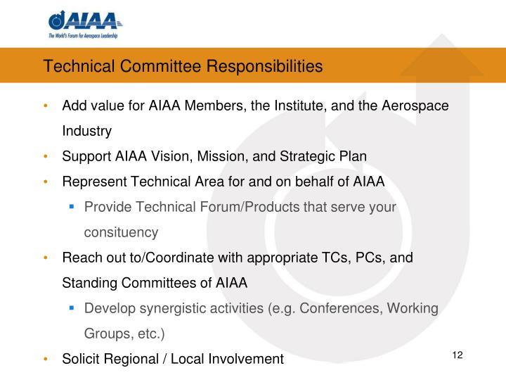 Technical Committee Responsibilities