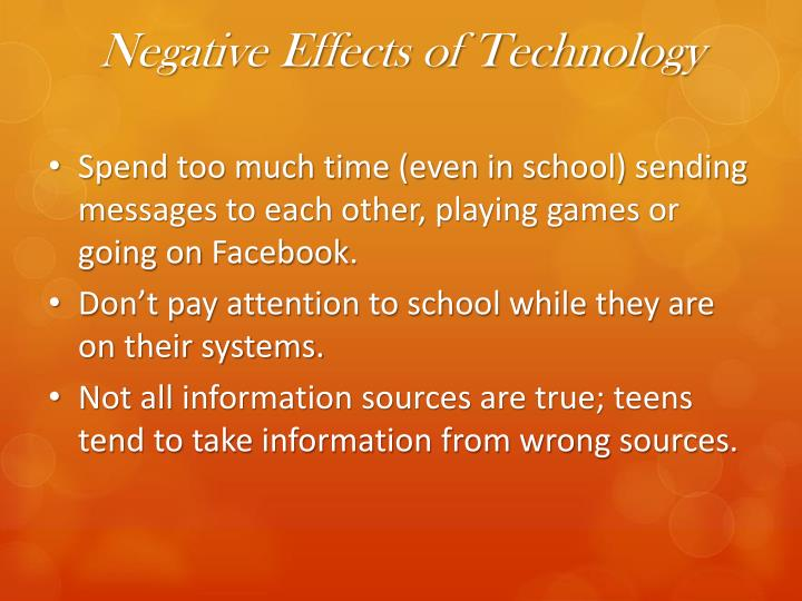 bad effects of technology