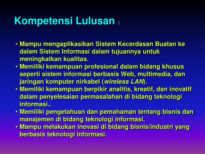 Kompetensi Lulusan