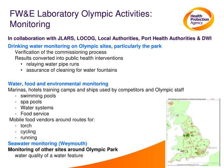 FW&E Laboratory Olympic Activities: Monitoring