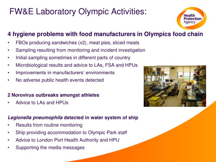 FW&E Laboratory Olympic Activities: