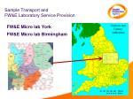 sample transport and fw e laboratory service provision