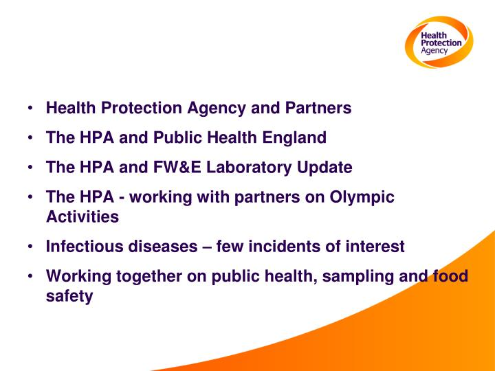 Health Protection Agency and Partners
