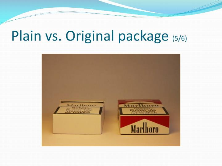 Plain vs. Original package