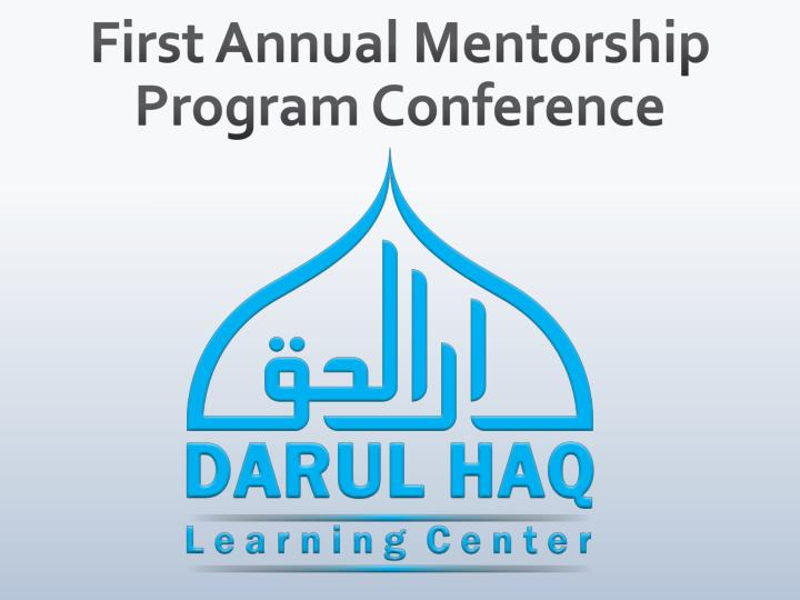 First annual mentorship program conference