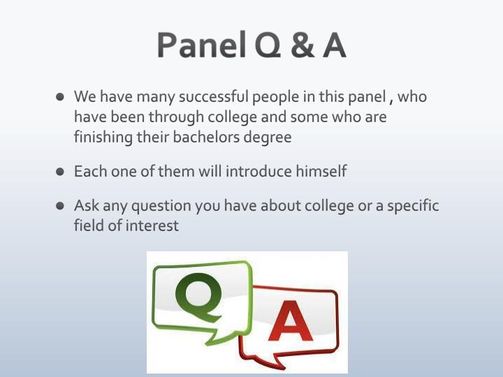 Panel Q & A
