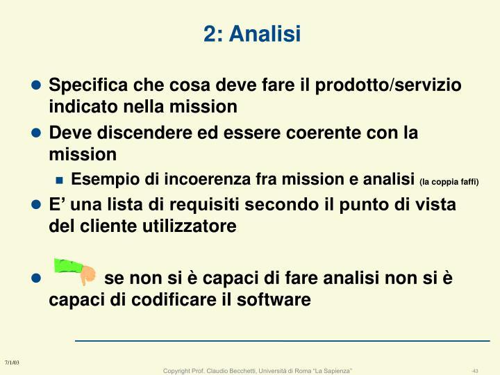 2: Analisi