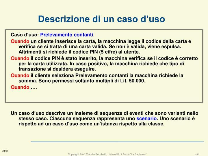 Descrizione di un caso d'uso