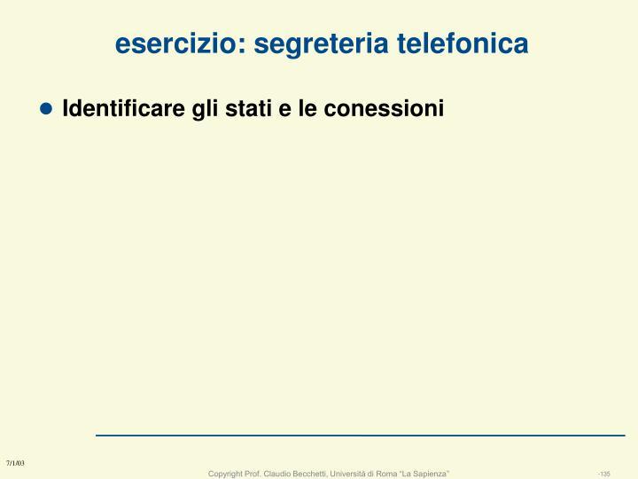 esercizio: segreteria telefonica