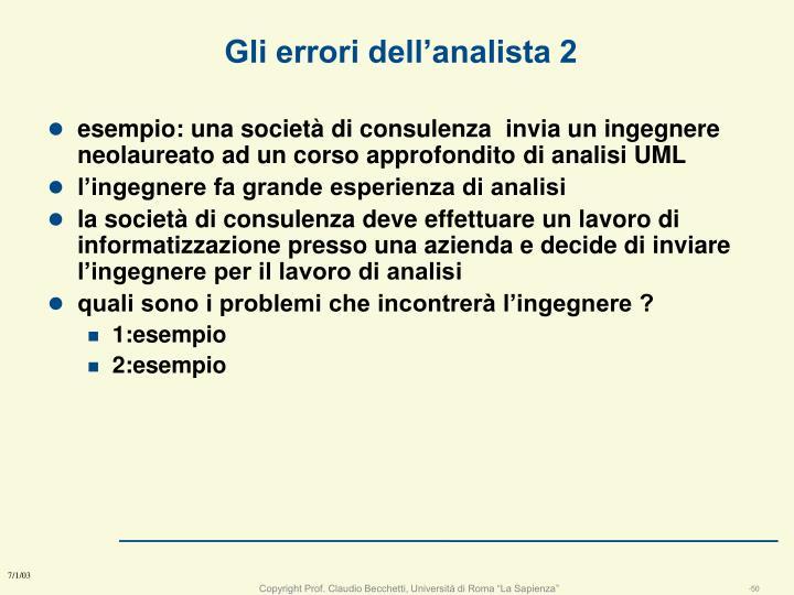 Gli errori dell'analista 2