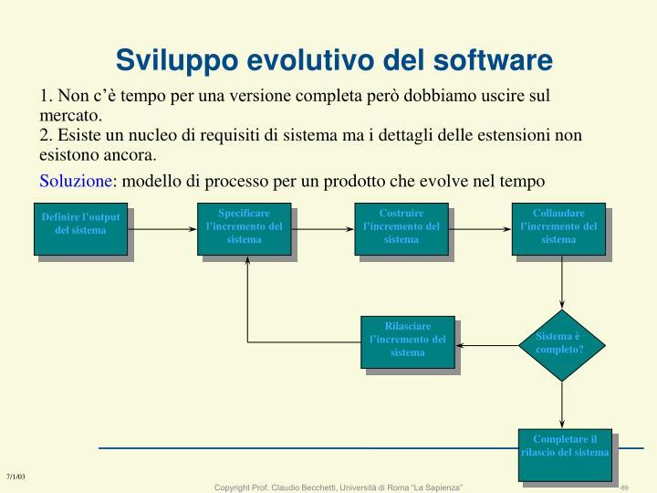 Sviluppo evolutivo del software