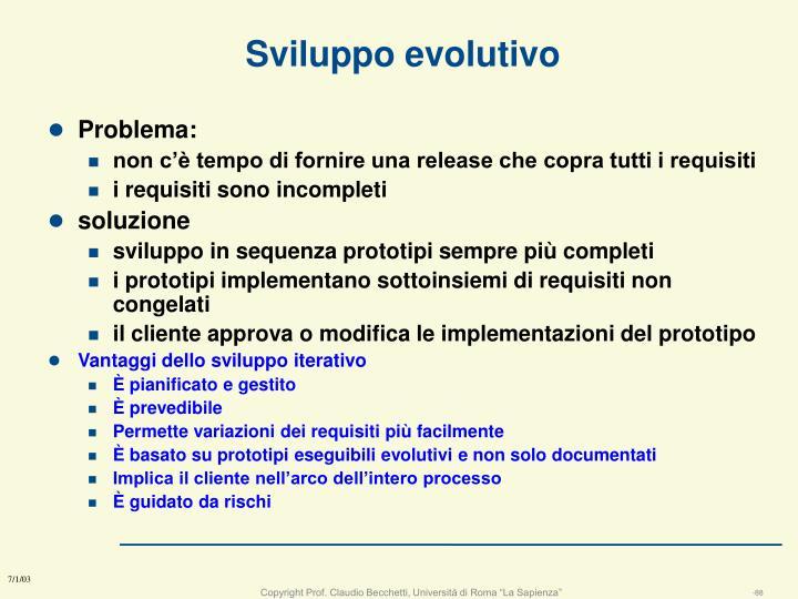 Sviluppo evolutivo