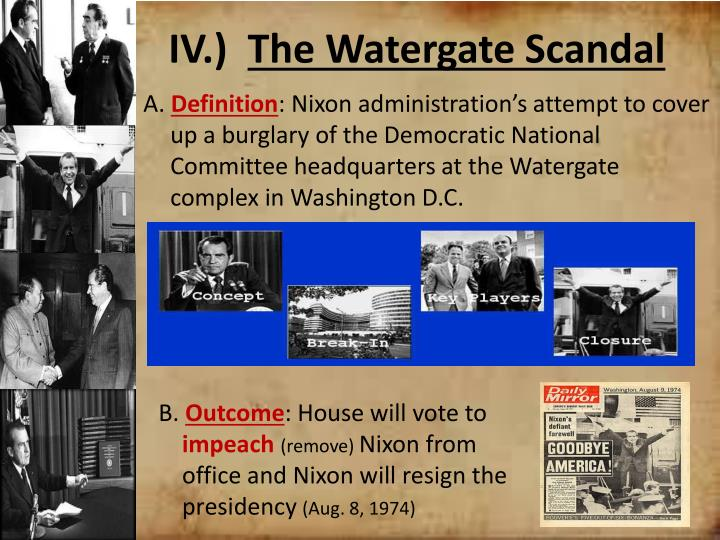an analysis of the watergate political scandal