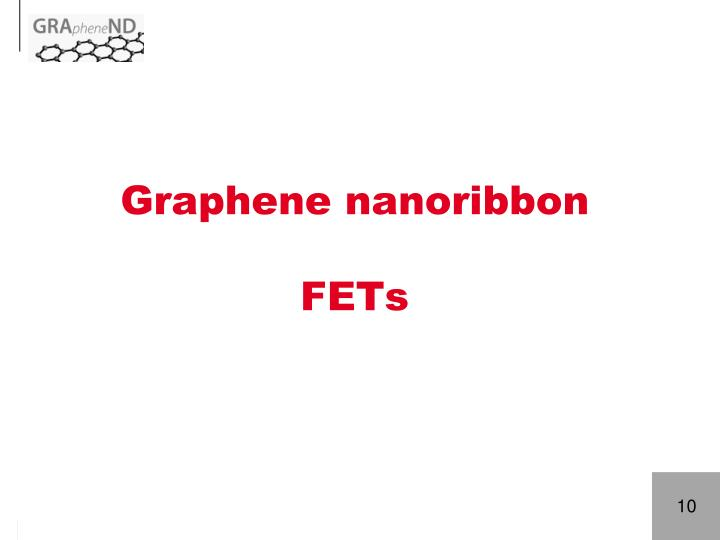 Graphene nanoribbon