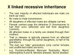 x linked recessive inheritance1