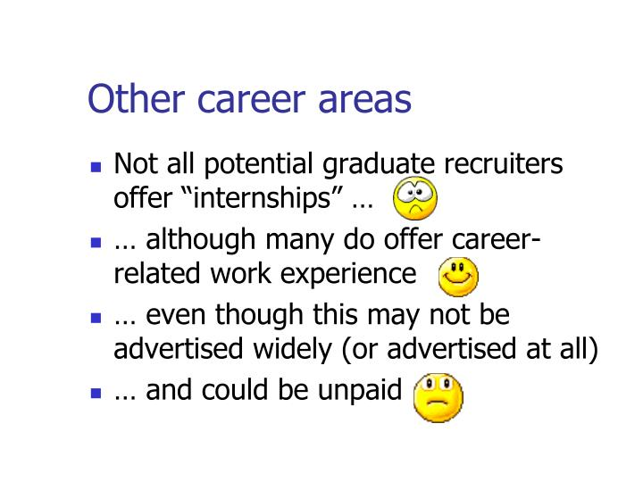 Other career areas