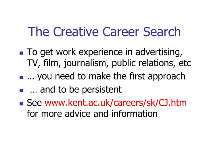 The Creative Career Search