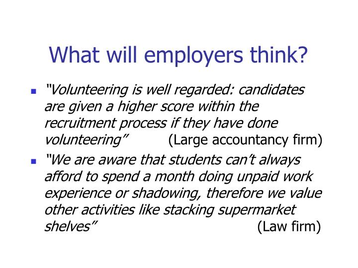 What will employers think?