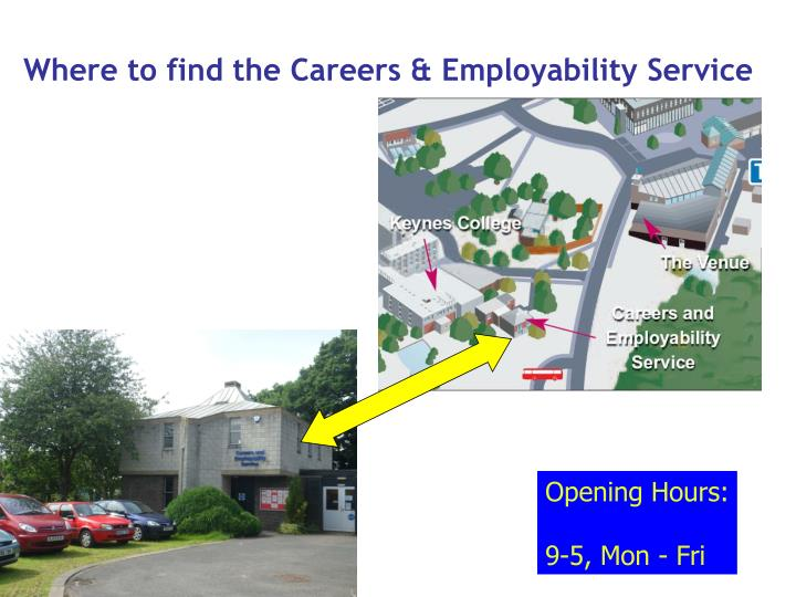 Where to find the Careers & Employability Service