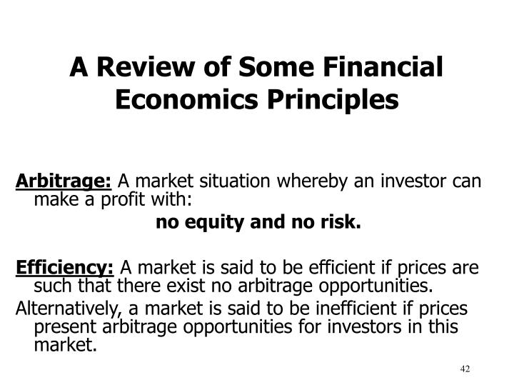 A Review of Some Financial Economics Principles