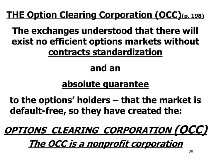 THE Option Clearing Corporation (OCC)