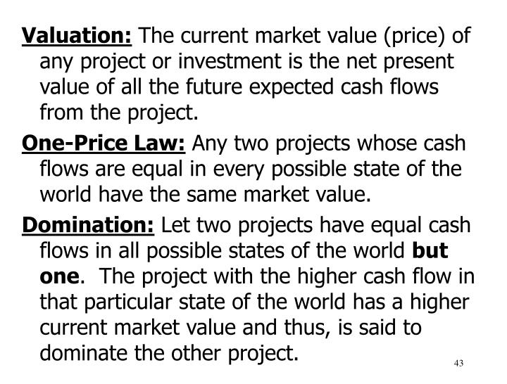 Valuation: