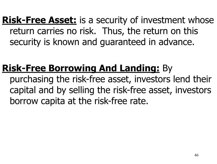 Risk-Free Asset: