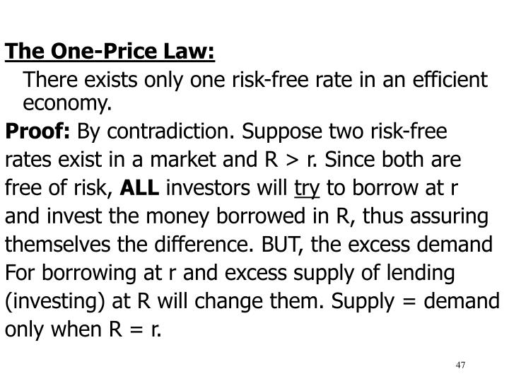 The One-Price Law: