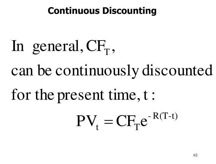 Continuous Discounting