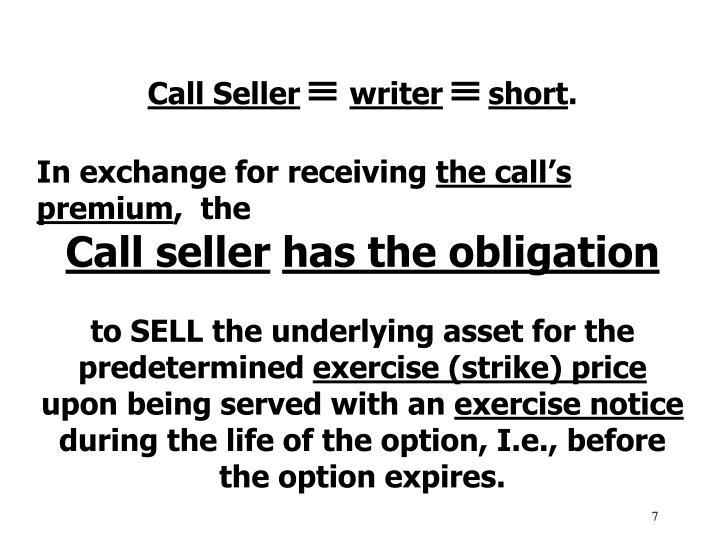 Call Seller