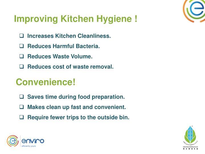 Improving Kitchen Hygiene !