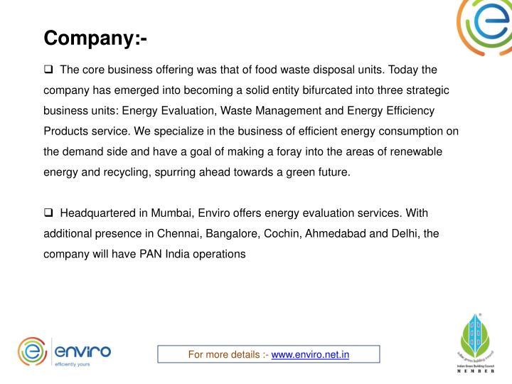 Company:-