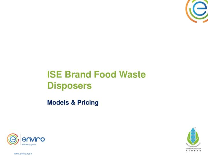 ISE Brand Food Waste Disposers