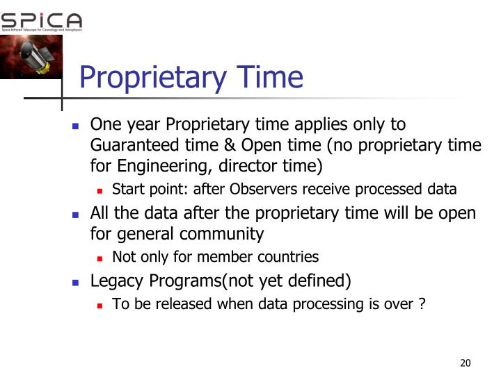 Proprietary Time