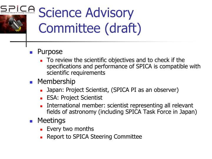 Science Advisory Committee (draft)