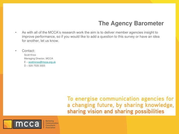 The Agency Barometer