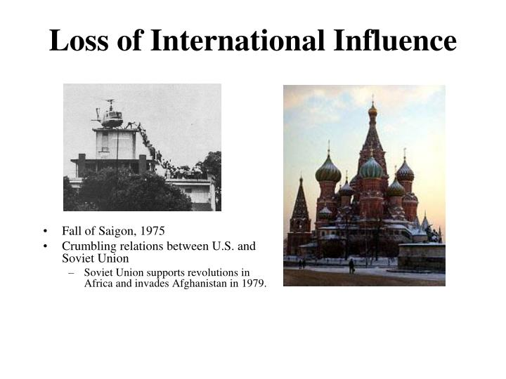 Loss of International Influence
