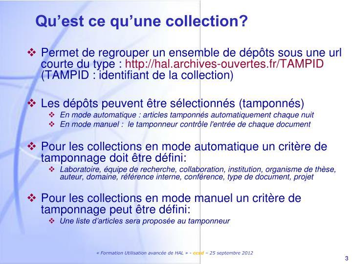 Qu'est ce qu'une collection?