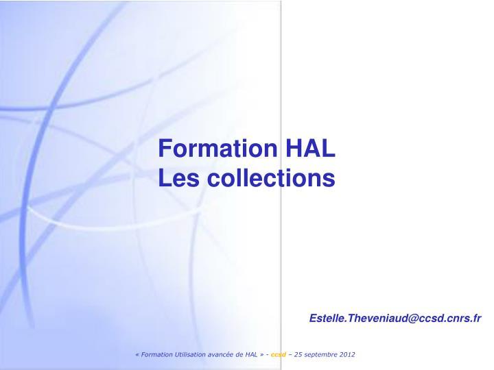 Formation HAL
