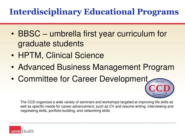 Interdisciplinary Educational Programs