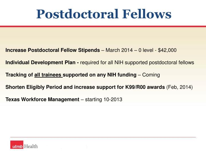 Postdoctoral Fellows