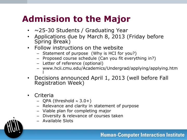 ~25-30 Students / Graduating Year