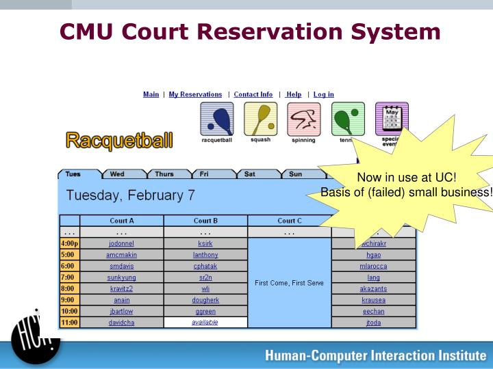 CMU Court Reservation System